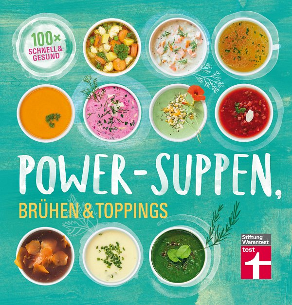 Buchtitel Power-Suppen (c) Stiftung Warentest